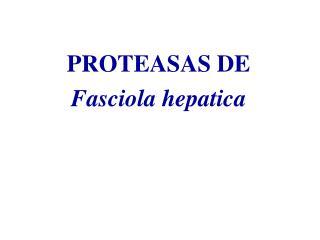 Proteasas de Fasciola hepatica