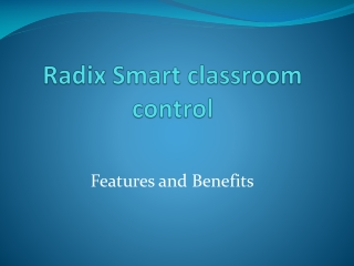 Classroom Management Software-Windows and Android based Devi