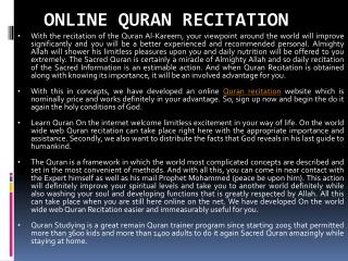 Online Quran Recitation