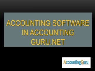 Accounting Guru-Cloud accounting software