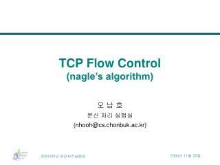 TCP Flow Control  nagle s algorithm