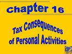 Tax Consequences of Personal Activities