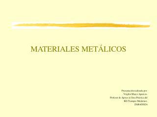 MATERIALES MET LICOS