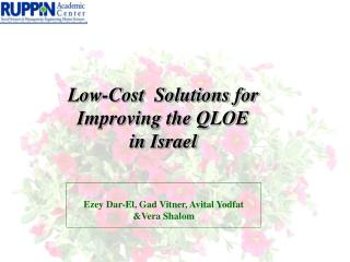 Low-Cost  Solutions for Improving the QLOE in Israel