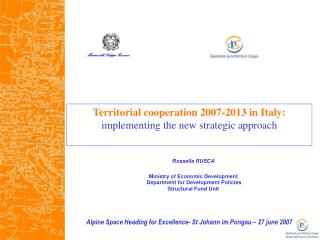 Territorial cooperation 2007-2013 in Italy: implementing the new strategic approach