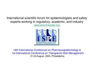 International Society for Pharmacoepidemiology ISPE