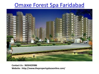 Omaxe Forest Spa Faridabad