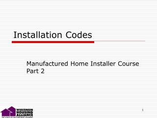 Installation Codes