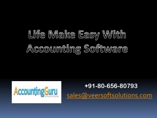 Life Make easy with Accounting software