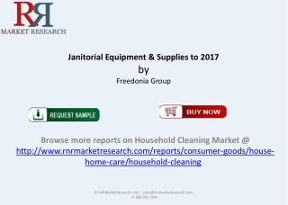 New Report Janitorial Equipment Supplies Market 2017