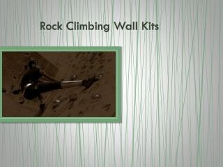 Rock Climbing Wall Kits
