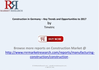 Construction in Germany Key Trends and Opportunities to 20