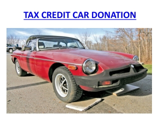Tax Credit Car Donation