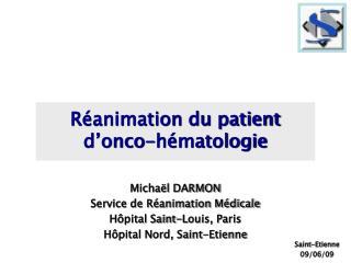 R animation du patient  d onco-h matologie
