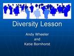 Diversity Lesson