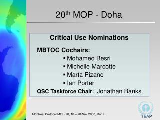 20th MOP - Doha