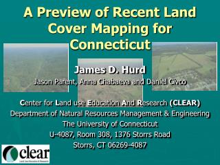 A Preview of Recent Land Cover Mapping for Connecticut