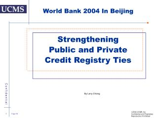 Strengthening  Public and Private Credit Registry Ties
