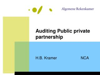 Auditing Public private partnership