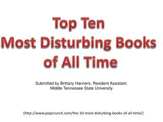 Top Ten  Most Disturbing Books  of All Time