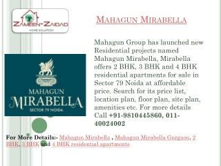 Mahagun mirabella sector 79 noida