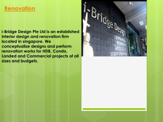 Commercial hdb Interior Design Company, Renovation