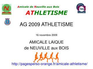 AG 2009 ATHLETISME  16 novembre 2009