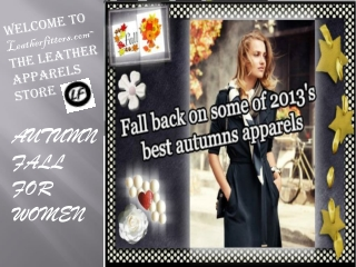 Autumn/fall for women