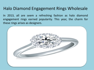 Halo Diamond Engagement Rings Wholesale