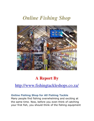 Online Fishing Shop