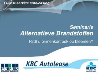 Seminarie  Alternatieve Brandstoffen