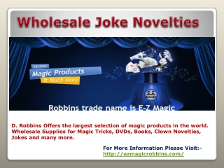 Wholesale Joke Novelties