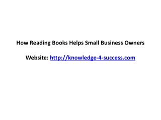 How Reading Books Helps Small Business Owners