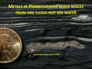 METALS IN PENNSYLVANIAN BLACK SHALES FROM ORE FLUIDS NOT FROM SEAWATER