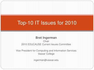 Top-10 IT Issues for 2010
