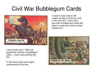Civil War Bubblegum Cards