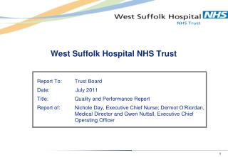 West Suffolk Hospital NHS Trust
