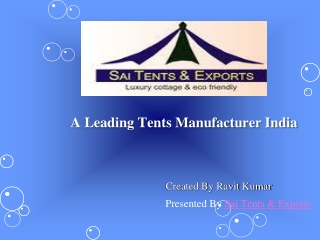 Tents manufacturer India