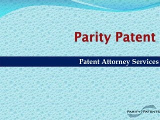 Patent Attorney Services
