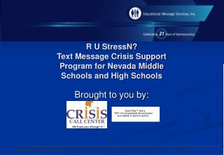 R U StressN Text Message Crisis Support Program for Nevada Middle  Schools and High Schools