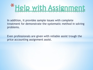 Online Help with Assignment