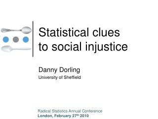 Statistical clues to social injustice