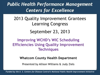 Public Health Performance Management