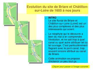 Evolution du site de Briare et Ch tillon-sur-Loire de 1605   nos jours