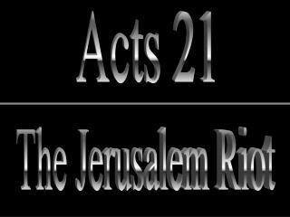 The Jerusalem Riot
