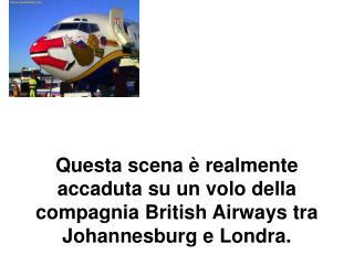 Questa scena   realmente accaduta su un volo della compagnia British Airways tra  Johannesburg e Londra.