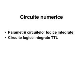 Circuite numerice