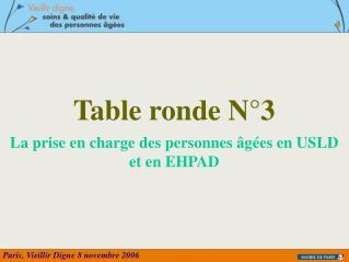 Table ronde N°3