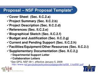 Proposal   NSF Proposal Template