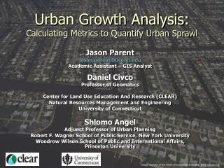 Urban Growth Analysis: Calculating Metrics to Quantify Urban Sprawl